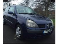 Renault Clio 2002, No MOT, Great runner and an ideal first car.