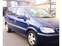 51 reg Vauxhall zafira diesel 7 seater mot and tax