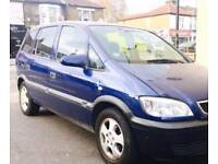 51 reg Vauxhall zafira diesel 7 seater mot and tax