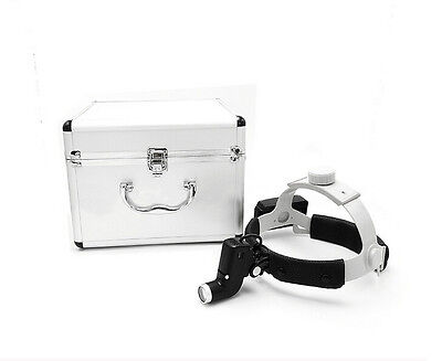 Dental Led Surgical Headlight Dy-006 Leather Headbandaluminum Box Ent Specific