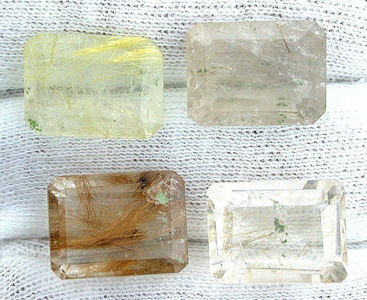 ONE 16x12 16mm x 12mm Emerald Golden Rutilated Quartz Gemstone Gem Stone EBS7173