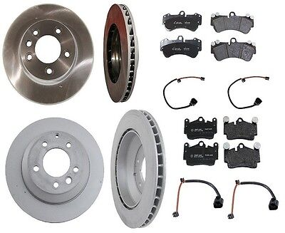 VW Touareg 04-08 V8 4.2L Complete Brembo Rotors+Pagid Pads+Sensors Brake Kit