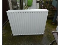 double panel convector radiator with brackets and valves