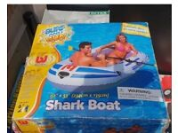 Surf And Sun - Shark Boat With Oars - Brand New Never Opened