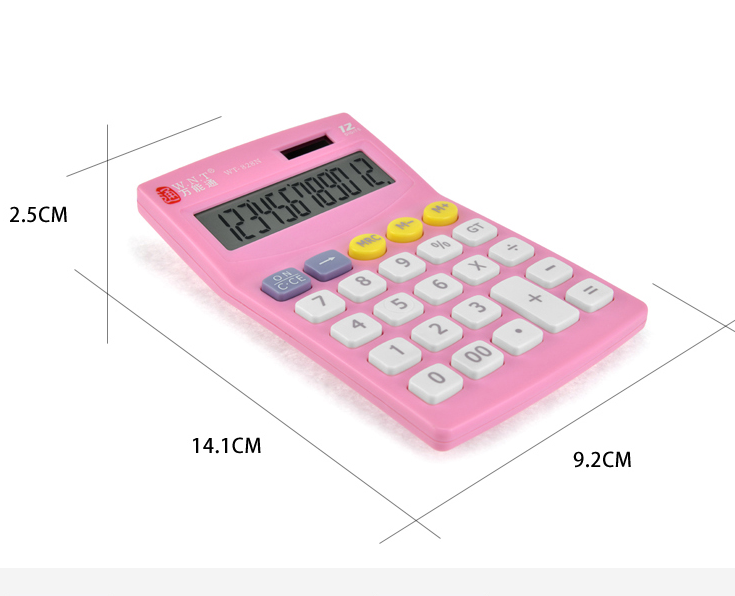 Electronic Calculator Battery Solar Power student accounting office 12 Digit 1 X