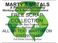 ♻FREE SCRAP METAL COLLECTION♻MARTY'S METALS A Recycling Company♻