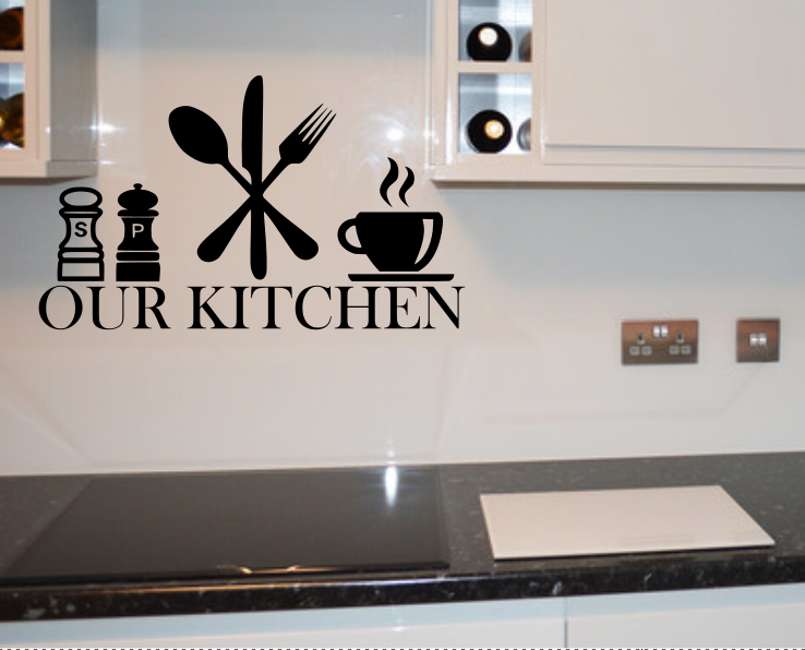 Home Decoration - our kitchen wall art sticker decal stickers love vinyl diy home decor tea