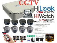 Hikvision HD CCTV Security Camera Kit. DVR, 4 x 1080p Varifocal Cameras, Hard Drive, Cables-Full Kit