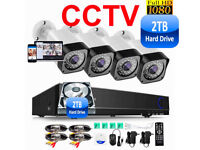 Full HD CCTV Security Camera Kit. 4 x 1080p Cameras , 8 Channel HD DVR with 2TB Hard Drive, Full Kit