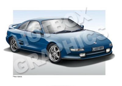 TOYOTA MR2 PRINT - PERSONALISED ILLUSTRATION OF YOUR CAR