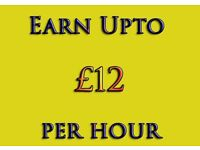 Work From Home - Earn Up to ��12 Per Hour ** Part time, Student, Immediate start