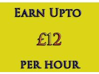 Work From Home - Earn Up to £12 Per Hour ** Part time, Bar Staff, Student, All Qualify