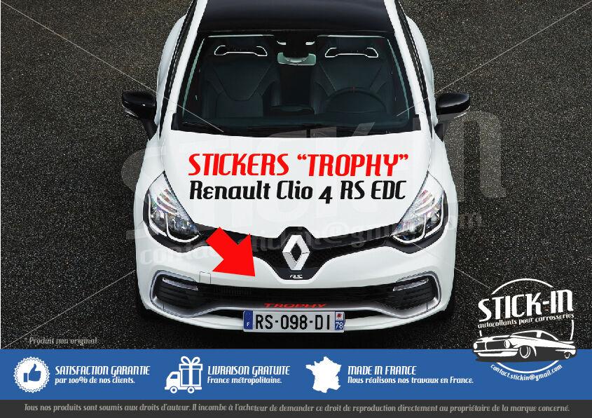renault clio 4 rs edc trophy 220 stickers autocollants. Black Bedroom Furniture Sets. Home Design Ideas