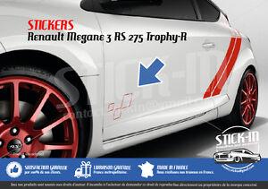renault megane 3 rs trophy r 275 stickers autocollants portes doors decals ebay. Black Bedroom Furniture Sets. Home Design Ideas
