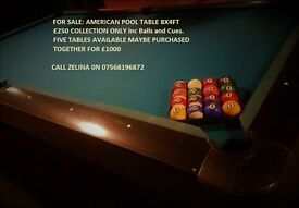 American Pool Tables 8x4ft