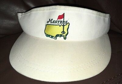 1d586a04f9268 The Masters Official Logo White Golf Visor American Needle For The Masters  USA