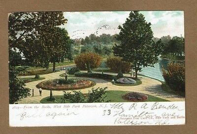 Paterson,NJ New Jersey West Side Park, from the Rocks, used 1906](West Paterson Nj)