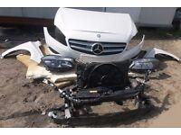 Mercedes W176 2.2 CDI front bumper hood fender etc