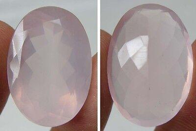 32.40Ct or 6.45g Brazil 100% Natural Rose Quartz Clean Crystal Gemstone