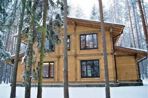 2 390 sq.ft PREFAB HEAVY TIMBER FRAME KIT WOOD HOUSE DIY BUILDING CABIN HOME GLT