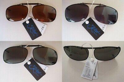 Sonnenbrille Clip Brillenaufsatz für Brillenträger Clip On Metall grau