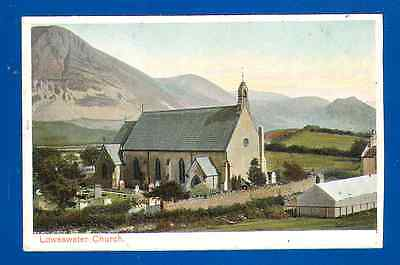 Vintage Postcard Loweswater Church. St. Bartholomew's -Peacock. Autochrom.