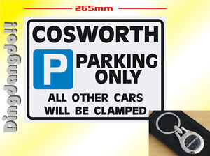 Cosworth Ford  Keyring & Parking Sign Novelty Gift Set Key Ring