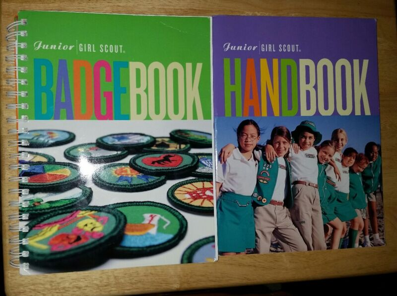 Vintage Junior Girl Scout Badge Book & Handbook 2001
