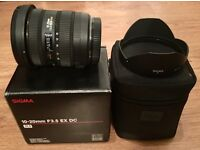 Sigma 10-20mm f3.5 EX DC HSM Wide Angle Canon Fit Lens