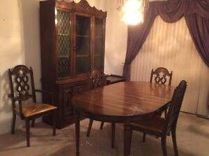 Dining table, chairs, cabinet - BEST OFFER