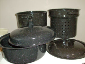 NEW 5 Piece Pot Set for Camping, Canning, Blanching & Roasting