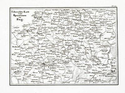 1857 Weißrussland Belarus Polen Napoloeon Kupferstich-Landkarte