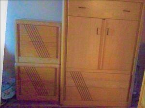 Mobilier de chambre en bois de rose (5 morceaux)