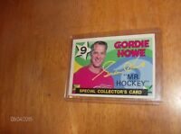 "GORDIE HOWE RETIREMENT CARD  "" MR. HOCKEY """