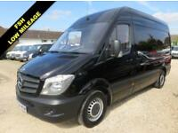 2014 64 MERCEDES-BENZ SPRINTER 2.1 CDI MWB HI ROOF BLACK 57309 MILES ONLY DIESE