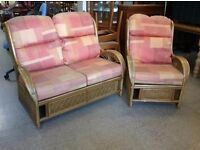 20% OFF ALL ITEMS SALE - Conservatory Wicker Sofa and Armchair - Can Deliver For £19