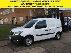 2016 66 MERCEDES-BENZ CITAN 1.5 109CDI LONG 90BHP LWB. 1 OWNER. NEW SHAPE. 66-RE