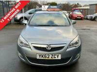 2012 62 VAUXHALL ASTRA 1.6 ACTIVE 5 DOOR SILVER PETROL BLUETOOTH LEATHER CRUISE