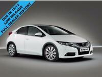 2014 63 HONDA CIVIC 1.6 I-DTEC SE PLUS 5 DOOR IN WHITE DIESEL