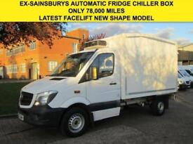 2013 63 MERCEDES-BENZ SPRINTER 2.1 313CDI FRIDGE CHILLER BOX. NEW SHAPE. 7G TRON