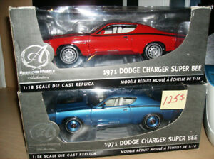 1/18 DIECAST X 5 DODGE CHARGER R/T 1971 ET SUPERBEE