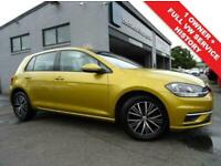 2018 67 VOLKSWAGEN GOLF 1.6 SE TDI BLUEMOTION TECHNOLOGY 5D 114 BHP DIESEL