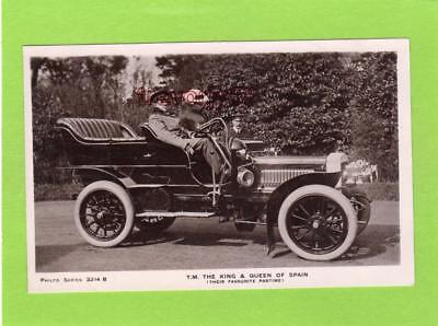 King Alfonso Queen of Spain Motor Car unused RP pc Philco