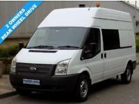61(11) FORD TRANSIT 350 LWB HIGH ROOF 2.2 RWD 125 BHP 6 SPEED DIESEL
