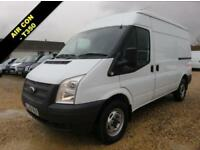 2013 13 FORD TRANSIT 2.2 TDCI 350 125 BHP MWB MEDIUM ROOF AIR CON 48796 MILES D