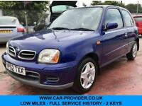 2002 NISSAN MICRA TEMPEST 1.0 LOW MILES FULL SERVICE HISTORY 2 KEYS 3DR 59 BHP
