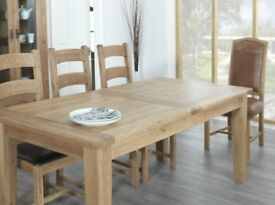 Rustic Manor Oak Dining Table - Extending 150cm To 190cm by 90cm wide