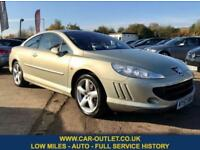 2007 57 PEUGEOT 407 SPORT 2.7 2DR AUTOMATIC 202 BHP-COUPE-SERVICE HISTORY DIESEL