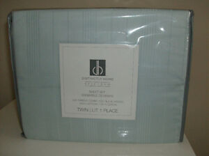 NEW 520 Thread Count Twin Size Cotton Sheets + White Bed Skirt
