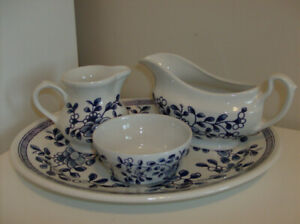 NEW 4 Pc Churchill Staffordshire England - Platter, Gravy Boat..